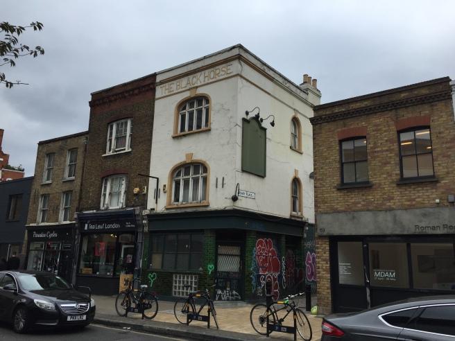 The Black Horse closed down pub